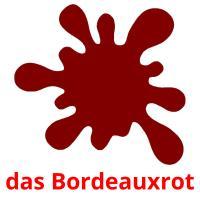 das Bordeauxrot picture flashcards