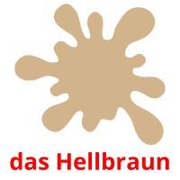das Hellbraun picture flashcards