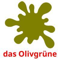 das Olivgrüne picture flashcards