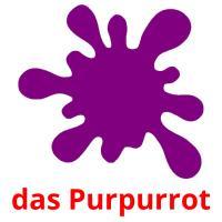 das Purpurrot picture flashcards