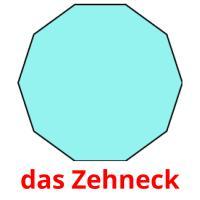 das Zehneck picture flashcards
