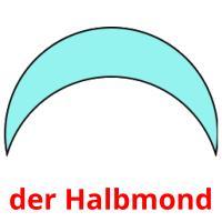 der Halbmond picture flashcards