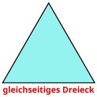 gleichseitiges Dreieck picture flashcards