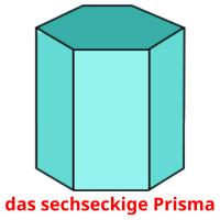 das sechseckige Prisma picture flashcards