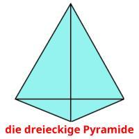 die dreieckige Pyramide picture flashcards