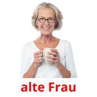 alte Frau picture flashcards