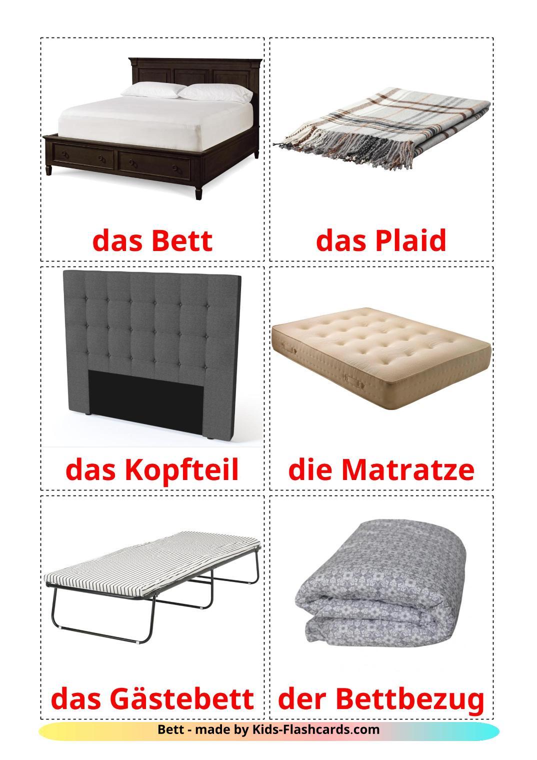 Bed - 15 Free Printable german Flashcards
