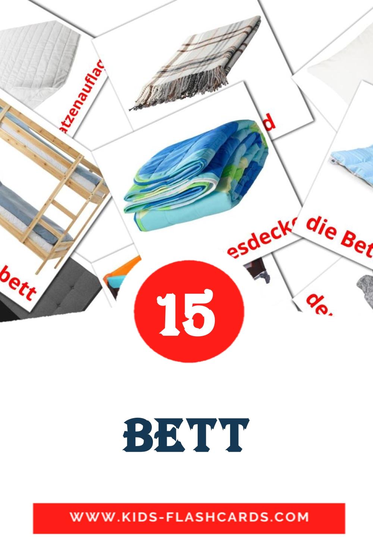 15 das Bett Picture Cards for Kindergarden in german