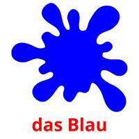 das Blau picture flashcards