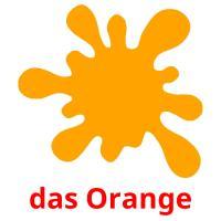 das Orange picture flashcards