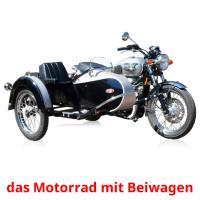 das Motorrad mit Beiwagen picture flashcards