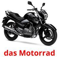 das Motorrad picture flashcards