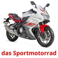 das Sportmotorrad picture flashcards