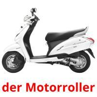 der Motorroller picture flashcards