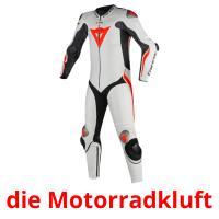 die Motorradkluft picture flashcards
