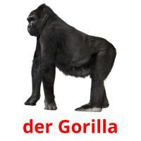 der Gorilla picture flashcards
