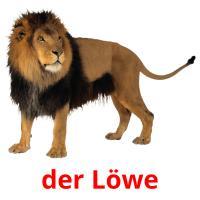 der Löwe picture flashcards