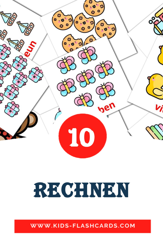 10 Rechnen Picture Cards for Kindergarden in german