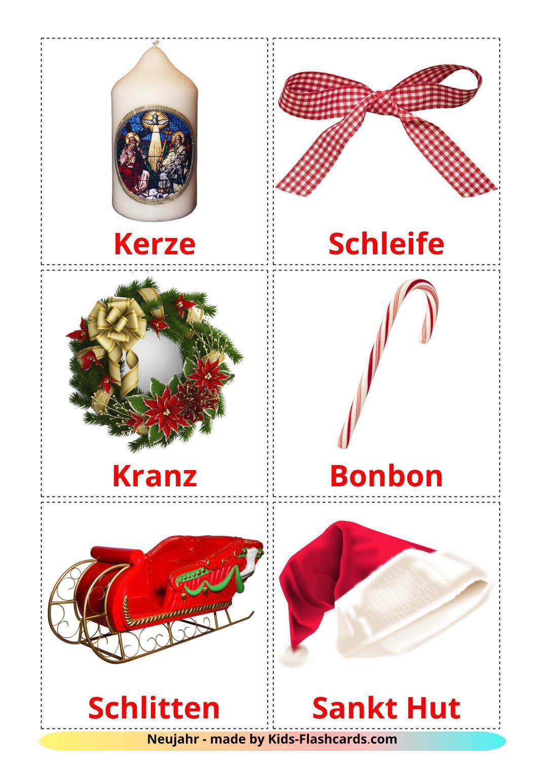Christmas - 28 Free Printable german Flashcards