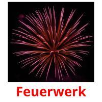 Feuerwerk picture flashcards