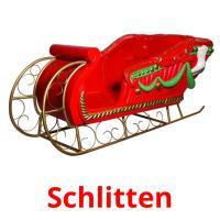 Schlitten picture flashcards
