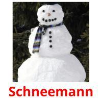 Schneemann picture flashcards