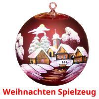 Weihnachten Spielzeug picture flashcards