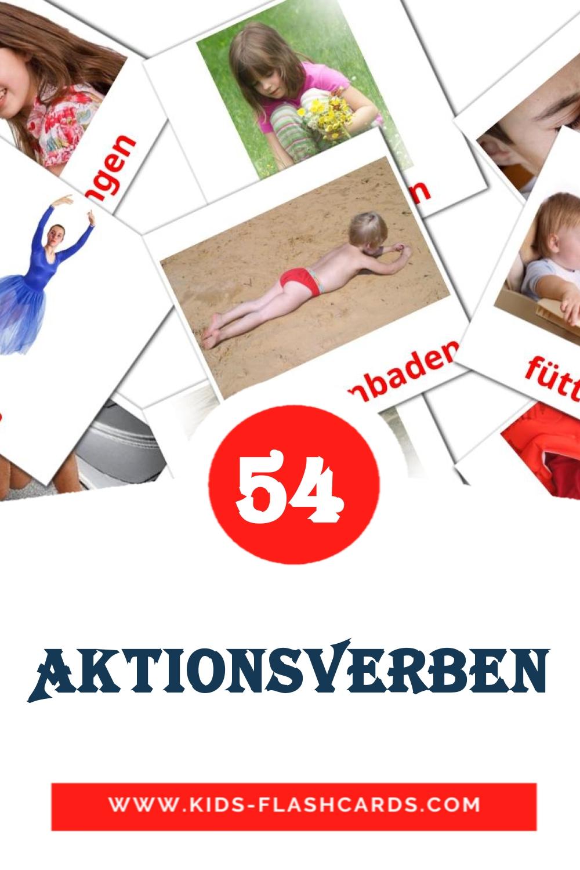 55 Aktionsverben Picture Cards for Kindergarden in german
