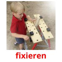 fixieren picture flashcards