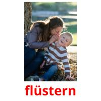 flüstern picture flashcards