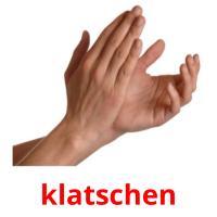 klatschen picture flashcards