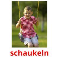 schwingen picture flashcards