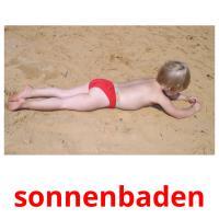 sonnenbaden picture flashcards