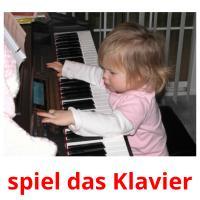 spiel das Klavier picture flashcards