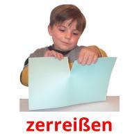 zerreißen picture flashcards