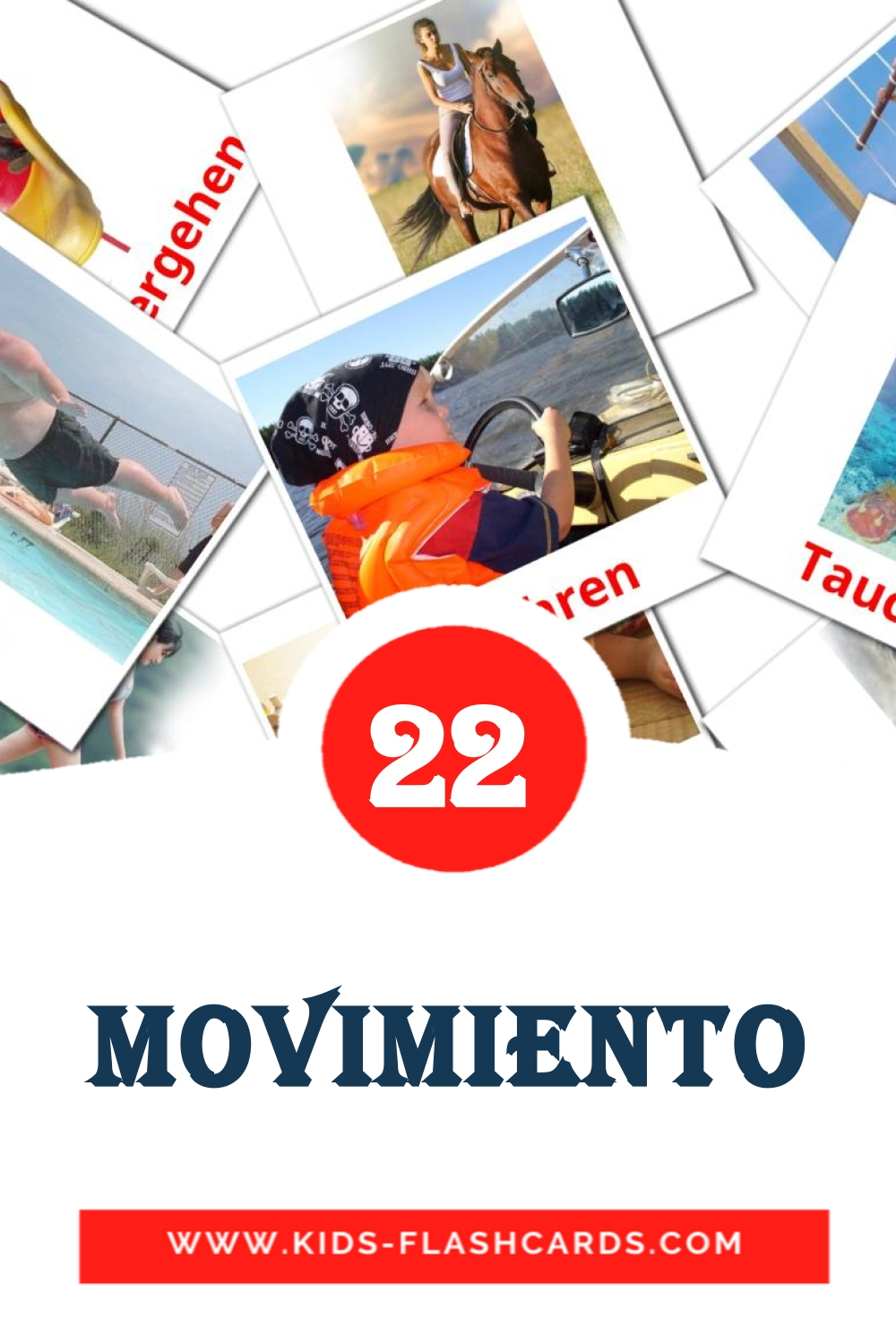 22 Movimiento  Picture Cards for Kindergarden in german