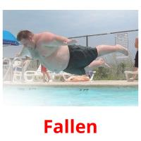 Fallen picture flashcards