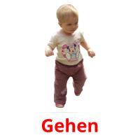 Gehen picture flashcards