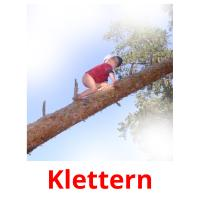 Klettern picture flashcards