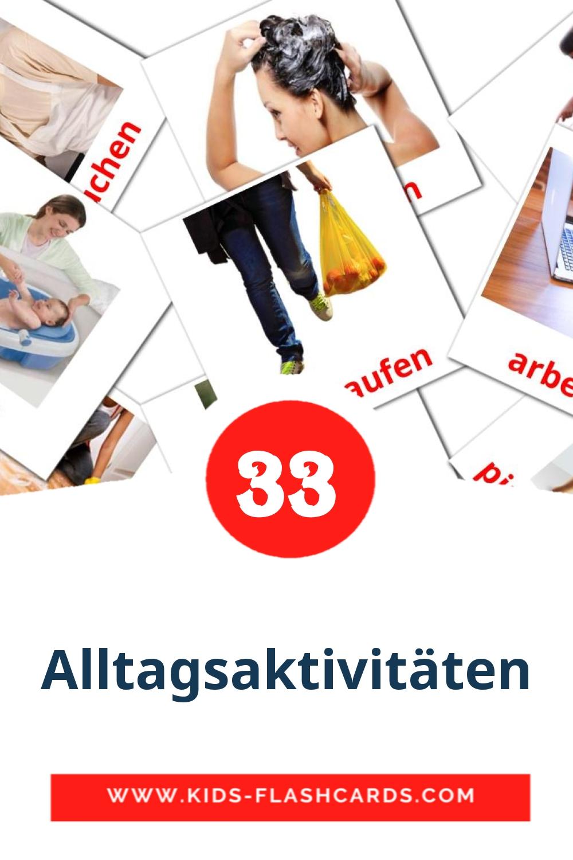 33 Alltagsaktivitäten Picture Cards for Kindergarden in german