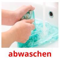 abwaschen picture flashcards