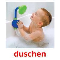 duschen picture flashcards