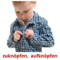knopfvershcluss picture flashcards
