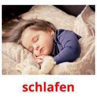 schlafen picture flashcards