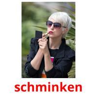 schminken picture flashcards