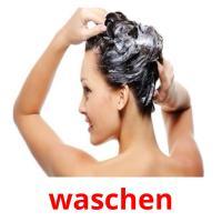 waschen picture flashcards