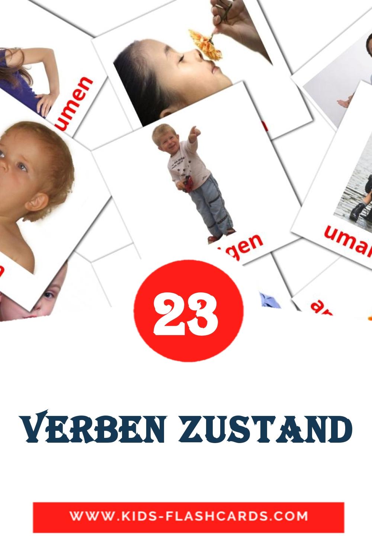23 Verben Zustand Picture Cards for Kindergarden in german