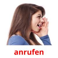 anrufen picture flashcards