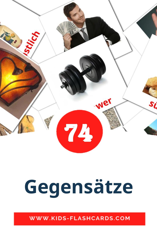 74 Gegensätze Picture Cards for Kindergarden in german