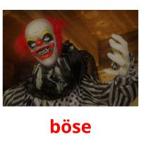 böse picture flashcards